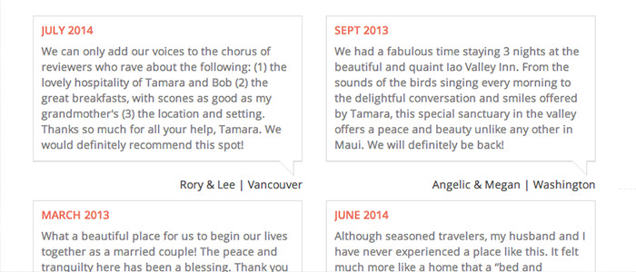 See what past guests have to say about Iao Valley Inn.