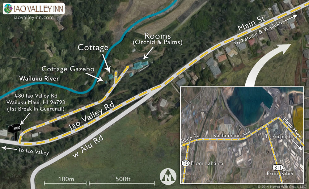 Iao Valley map